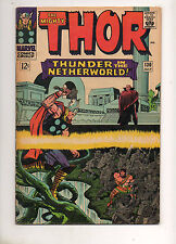 Thor #130 Thor & Hercules in Hell vs Pluto Battle Issue! Fn+ 6.5 KIRBY ART 1966