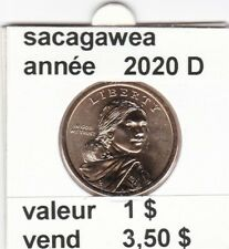 pièces de 1 $  sacagawea  2020 D
