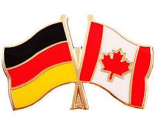 Freundschaftspin  Deutschland - Kanada Anstecker Anstecknadel Fahne Doppelpin