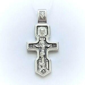 Orthodox cross Jesus and Seraphim Of Sarov silver 925 # А046 SilverDooh Store