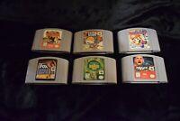 Lot 6 Authentic Nintendo 64 N64 Games Carts Cartridges Mario Party Pokemon Snap
