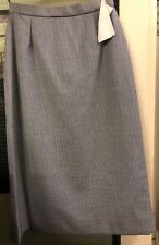 Ladies long wool skirt black & white fine check casual office work Pencil, NEW