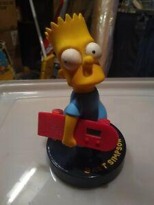 The Simpsons - Vintage Wesco Bart Simpson  Skateboard Digital Alarm Clock 1991