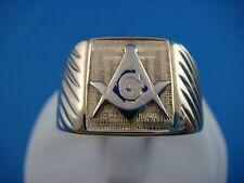 !CLASSIC MASONIC MEN'S VINTAGE RING 7.7 GRAMS SIZE 11 10K YELLOW GOLD