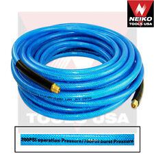 """1/4"""" x 100' Ironflex Braided Polyprothane Air Hose PRO Tools for Compressor"""