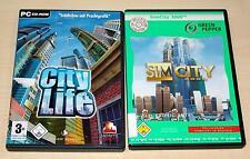 2 PC SPIELE SET SIM CITY 3000 & CITY LIFE