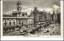 Valencia Espana Spanien Tarjeta postal ~1920/30 Plaza del Caudillo Straßenbahn
