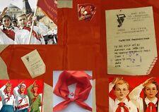 CCCP USSR CIMELIO URSS FAZZOLETTO ORIGINALE GIOVANI PIONIERI U SOVIETICA+OMAGGIO