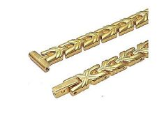 Watch Bracelet Gold Plated Long XL Ladies 12mm #10