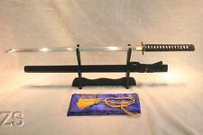 "41"" Hand Forged Japanese Black Ninjato Sword Shō-Tsuba Straight Blade Chokutō"