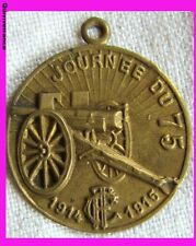 MED1457 - Médaillette JOURNEE DU 75 1914-1915 TOURING CLUB DE FRANCE