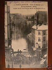 cpa 75 paris inonde janvier 1910 rue boulainvilliers