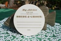 My Advice White WEDDING COASTERS, LETTERPRESS X 100 Round