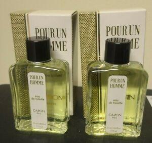 Pour Un Homme by Caron Eau de Toilette .84oz / 25ml New in Box 2 boxes Vintage