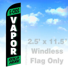 Flag Only 2.5' WINDLESS Swooper Feather Banner Sign - E-CIGS VAPOR SOLD HERE kf