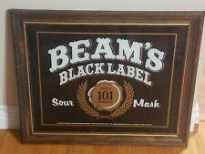 Beam's Black Label Sour Mash mirror NEVER DISPLAYED