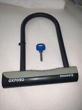 Oxford Essential Bike D Lock Shackle 12 Motorbike Cycle Security With 1 Keys