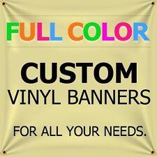 3' X 2' Full Color Custom Print 18oz Vinyl Flex Outdoor Banner( Free Design )