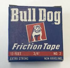 Antique Bull Dog Rubber Friction Tape WWII Fixall American Biltrite Mack Truck