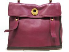 Auth YvesSaintLaurent rivegauche (YSL) Muse Two 229680 Purple Gray Leather