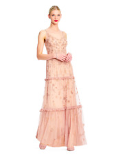 NWT ADRIANNA PAPELL BEADED TIERED GOWN- SIZE 6
