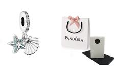 Genuine Pandora Silver Tropical Starfish & Sea Shell Charm S925 ALE 792076CZF