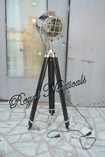 NAUTICAL COLLECTIBLE FLOOR LAMP STUDIO SEARCHLIGHT WITH TRIPOD STAND SPOT LIGHT