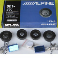 2pcs Alpine DDT-S30 180W Car Tweeter 1-Inch Speaker Silk Dome Audio Component