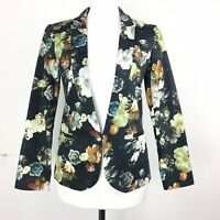 Topshop BNWT New Size 6UK Dark Floral Blazer Jacket Funky Office Wear