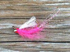 Saltwater Fly Fishing Flies (Steelhead, Salmon, Trout) Sockeye Shrimp Pink (6)