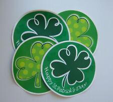 St. Patrick's Day Shamrock Placemats (Round, Vinyl, Set of 4)