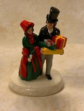 Vtg Sebastian Miniatures Figure With Box Victorian Christmas #4273