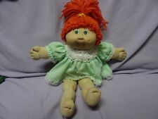 VINTAGE CABBAGE PATCH KIDS BLUE EYES Long orange wool Hair Dressed Jesmar 1984