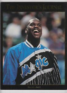 "Shaquille ""Shaq"" O'Neal Orlando Magic Investor's Journal May 1993 #9 Gold Trim"