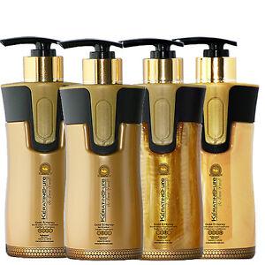 Keratin Cure Gold & Honey Bio Complete Straightening Coarse Curly Hair 300ml Kit