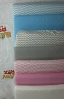 Cot Bed Fitted Sheets - 100 Cotton - 140 x 70 Cm (55 x 27 inch)