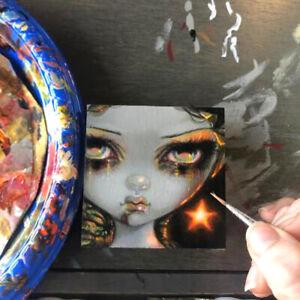 Tiny Treasure 187 Jasmine Becket-Griffith ORIGINAL PAINTING big eyes zombie art