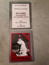Roger Clemens Business Card from Shop in mid 1980's  Boston Red Sox  (0083)