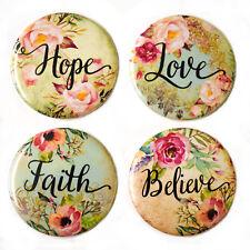 Love Hope Believe Faith Fridge Magnets Set 55mm Motivational Inspirational Gift