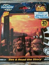 VIEW MASTER 3D ADVENTURES STAR WARS - STORY 1 ATTACK OF THE CLONES - NEW