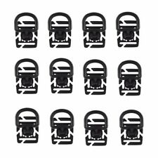 12Pcs EDC Tactical 360 Rotating D-Ring Buckle MOLLE Webbing Locking Carabiner BK