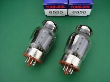 6550 Tung-Sol matched pair nuovo = 2 tubes (kt88) NEW
