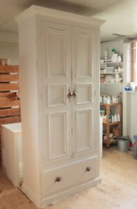Hand Made Larder Cupboard painted in Fallow & Ball Wimbourne White