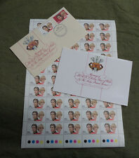 #T12. 1981 ROYAL WEDDING FDC,LADY DIANA & PRINCE CHARLES  FDC & STAMP SHEET
