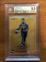 "2019-20 NBA HOOPS ZION WILLIAMSON ""ARRIVING NOW"" GOLD HOLO BGS 9.5 GEM MINT+"