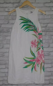 Tommy Bahama Lucky Bamboo 2XS Printed Sleeveless Scoop Neck White Dress 3859
