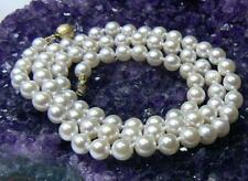"""GENUINE SALTWATER AKOYA ROUND PEARL 14K GOLD CLASP NECKLACE 18"""" AAA TOP GRADE"""