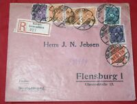Germany Malente Gremsmuhlen to Flensburg 1923 Registered Cover