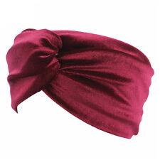 Womens Velvet Twist Knot Headband Stretchy Elastic Head Wrap Turban Hair band