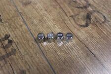 4 BBS Metall Ventilkappen in Silber NEU mit BBS Prägung